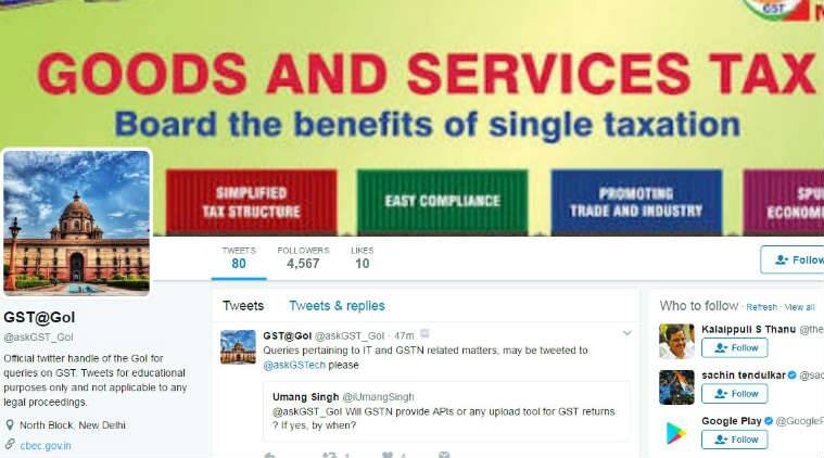 GST implementation, revenue department, new twitter handle, Central Board of Excise and Customs (CBEC), GST, GST Council, Union Finance Minister, Goods and Services Tax (GST) rules, unificaton of 16 different levies, Technology, Technology news
