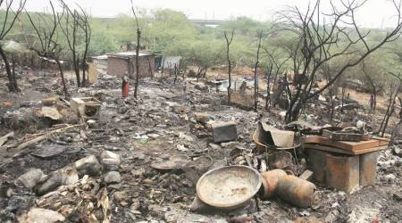 Gurgaon: 6-year-old dead, over 100 huts gutted in fire