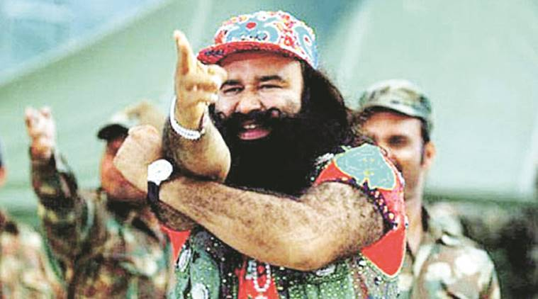 Image result for Ram Rahim's 100-Car supporters Moves To Court Before Judgement