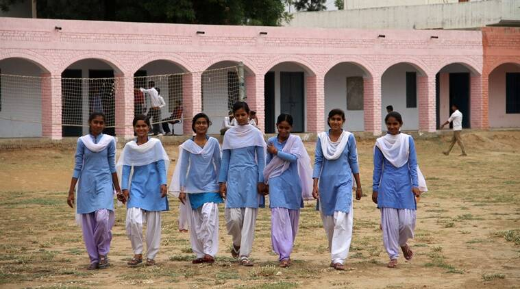school, school girls protest, Gothra school, government school girls protest, Hunger strike students, Rewari school students, Haryana news, Haryana school news, haryana schools, education news, harassment in Haryana, Hunger stike, Indian express, India news,