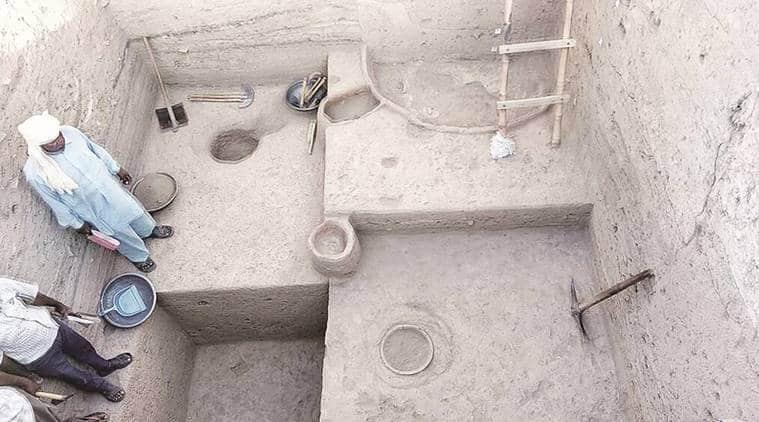 harappa civilization, harappa excavation, haryana harappan excavation, kunal village harappan site, harappan excavation site, haryana archeology dept, indian archeological society, asi india, national museum india, harappa sites in india, haryana historical sites, historic excavation harappa haryana, haryana news, indian express