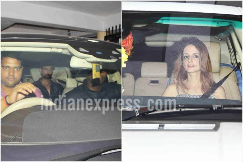 hrithik sussane party, sussane hrithik dinner, sanjay dutt party pictures