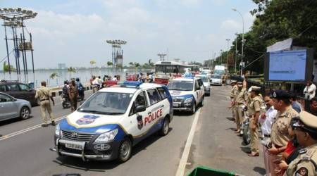 Four cops booked for extortion inHyderabad