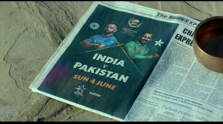 ICC Champions Trophy, v news, ICC Champions Trophy schedules, India vs Pakistan, Pakistan India, Virat Kohli Kohli, Star Sports, Star India, India Pakistan ad campaign, sports news, sports, cricket news, Cricket, Indian Express