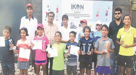 icon tennis tournament 2017, maha police tennis gymkhana, ikon tennis tournament maharashtra winners, tennis news, indian express