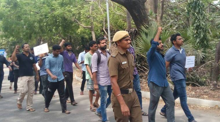 IIT madras, IIT madras beef party, IIT Madras students clash, ABVP, RSS, indian express news