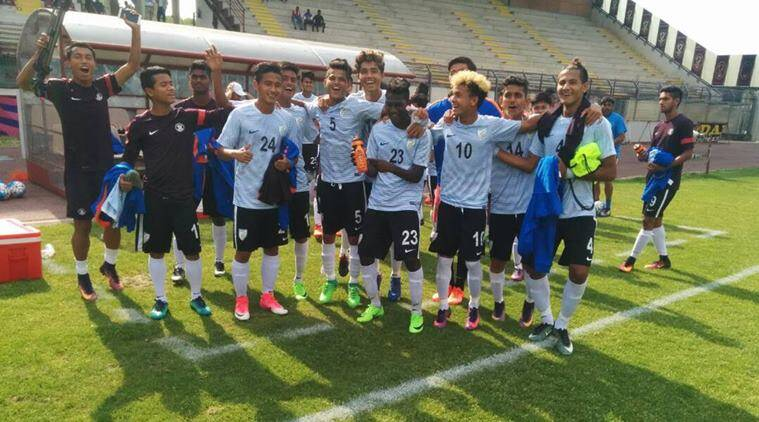 India U-17 football team beat Italy 2-0