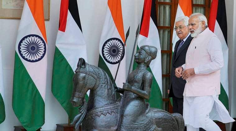 india, palestine, india-palestine, narendra modi, pm modi, israel, israel-palestine, Mahmoud Abbas, india news, indian express