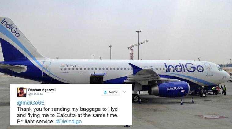 indigo, indigo airlines, indigo airlines twitter, indigo twitter wrong reply, indogo twotter funny reply, indigo twitter automated reply, indigo misplaced luggage complaint, viral photo, viral news, trending news, latest news, indian express