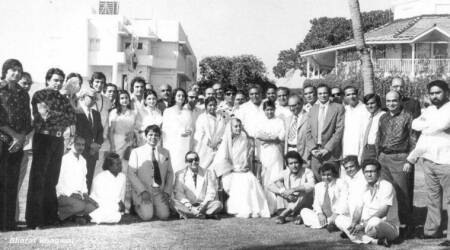Indira Gandhi is posing with top Bollywood stars. How many can you identify in this viral photo?