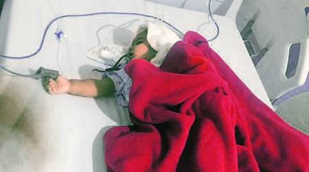 Gurgaon daycare, FIR against Gurgaon daycare, infant thumb crushed in Gurgaon daycare, indian express news