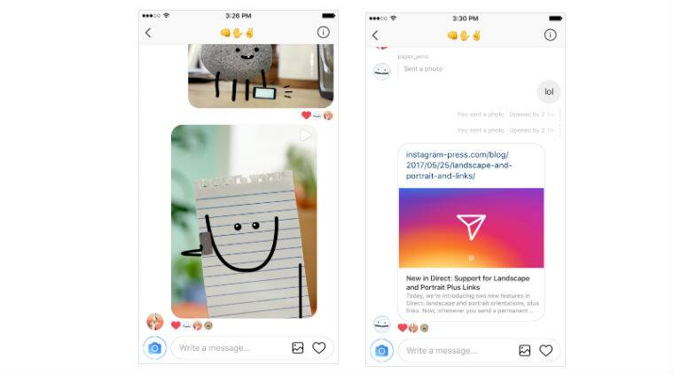 Instagram, Instagram Direct, Instagram update, Direct new features, Direct share URLs, Direct share landscape photos, Instagram users, Instagram app, Instagram news