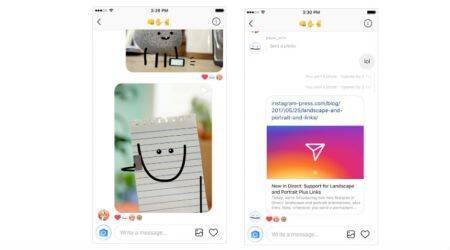 Instagram Direct adds support for web links, different photo orientations