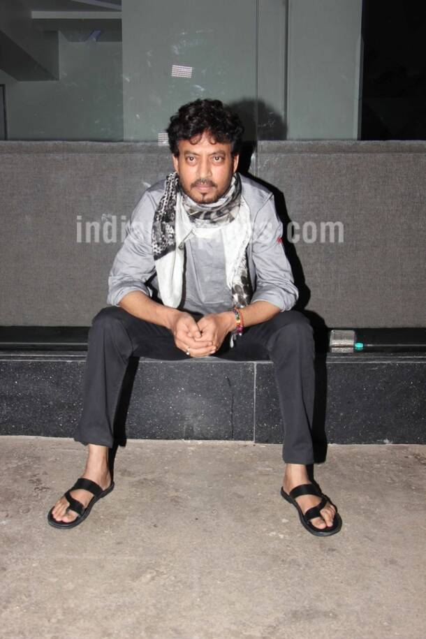 Irrfan Khan, Irrfan Khan film, Hindi Medium, Hindi Medium film, Hindi Medium screening, Irrfan Khan hindi medium, Irrfan Khan photos