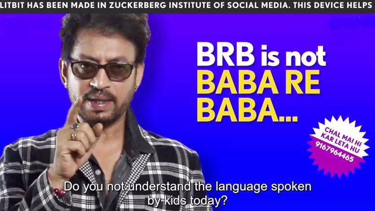 Irrfan khan, irrfan khan videos, irrfan khan promoting hindi medium, irrfan khan's videos for the millennials, indian express, indian express news