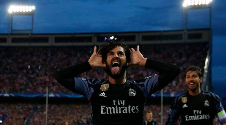 real madrid vs atletico madrid, madrid derby, champions league final, real vs atletico, atetico vs real, atletico madrid vs real madrid, isco, cristiano ronaldo, football news, sports news, indian express