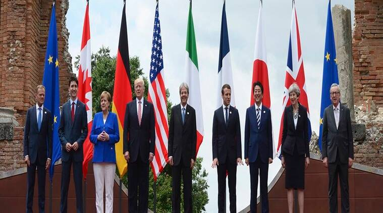 G7 member summit, G7 summit news, climate change, europe migration crisis, paris agreement, G7 members and Donald Trump, G7 members meet, Theresa May, Donald Tusk, Donald Trump, International news, World news,