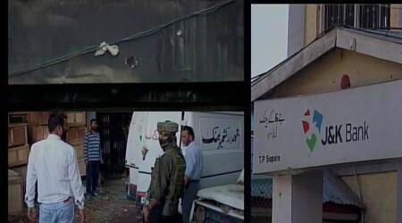 Militants hurl grenade at police party near Jammu and Kashmir Bank in Sopore; 4 cops injured