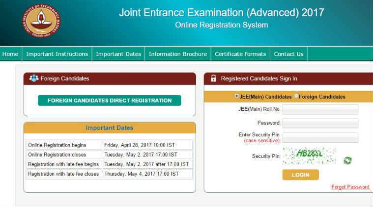 After entering your application number along with the Password, the JEE Advanced #year login page will appear getmyuni