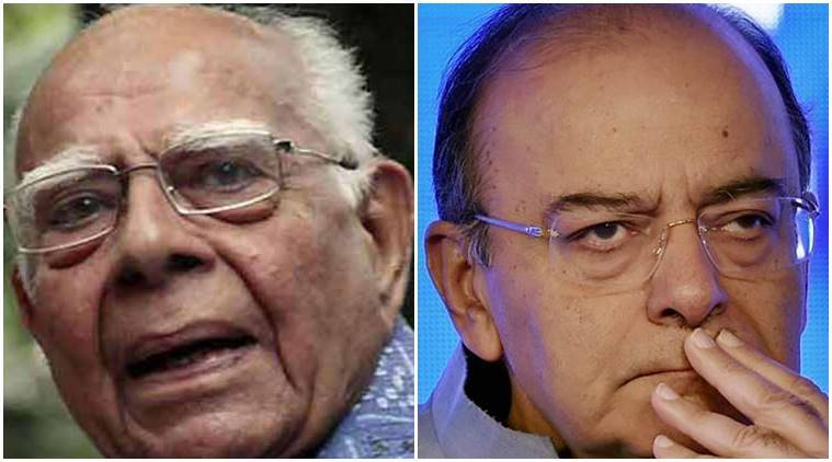Arun Jaitley, defamation case, arvind kejriwal defamation case, finance minister arun jaitley, ram jethmalani, advocate ram jethmalani, india news, indian express news