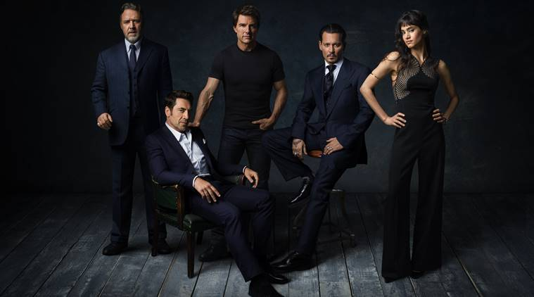 Johnny Depp, Javier Bardem, tom cruise, russell crowe, Sofia Boutella, dark universe,