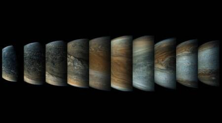 NASA's Juno probe finds Earth-sized storms over Jupiter poles