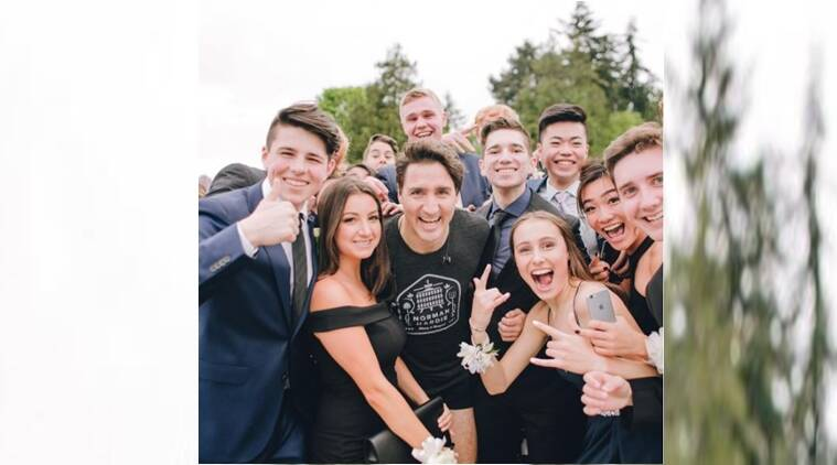 Trudeau photobombs prom photo shoot in Vancouver