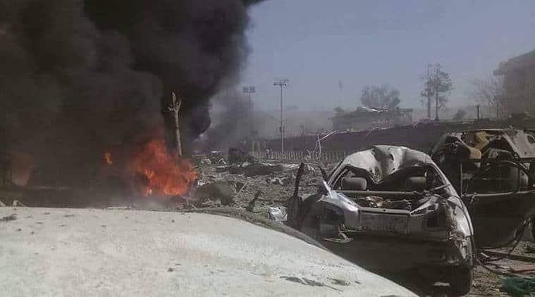 kabul attack, americans injured, world news, indian express news