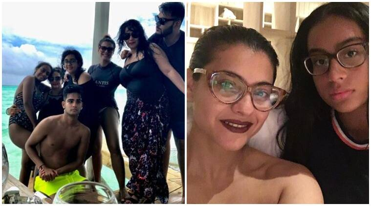 Kajol in a swimsuit soaks in some 'Vitamin F'