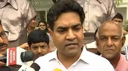 Watch Video: Suspended AAP leader Kapil Mishra marshalled out of Delhi Assembly