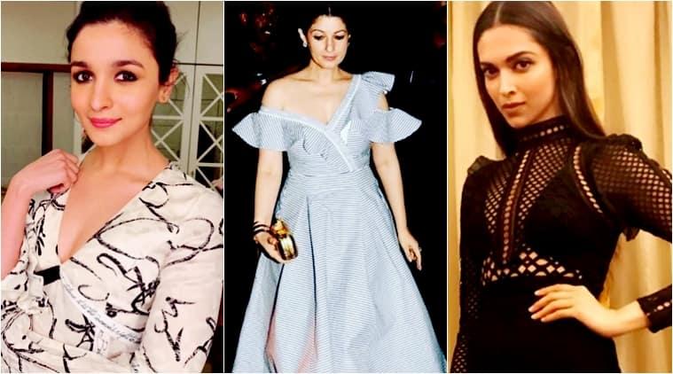 karan johar, karan johar birthday bash, alia bhatt, twinkle khanna, deepika padukone, bollywood style, bollywood fashion, celeb fashion, indian express, indian express news