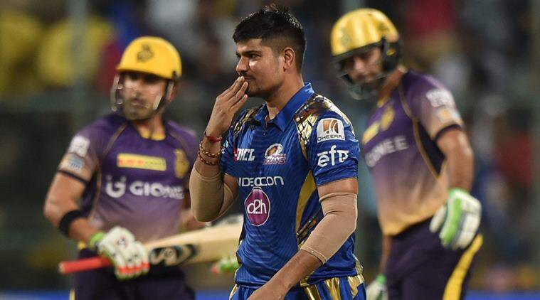 Karn Sharma, Karn, karna Sharma IPL, Karn Sharma Mumbai Indians, MI vs KKR, Mumbai vs Kolkata, Mumbai Indians vs Kolkata Knight Riders, IPL 2017, IPL 10, Cricket news, Cricket, Indian Express