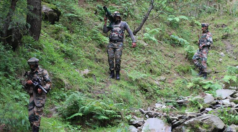 kashmir, pak bat terror attack, indian soldiers, indian express
