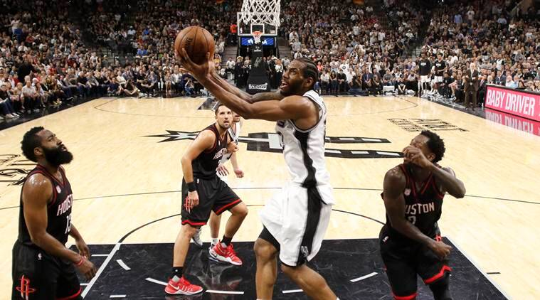 nba, nba playoffs, nba playoff second round, san antonio spurs, spurs, houston rockets, spurs vs rockets, nba news, sports news, indian express