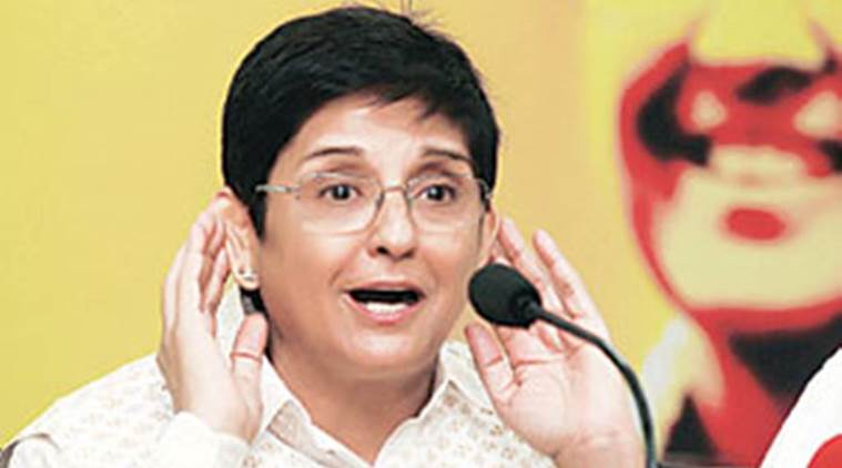 kiran bedi news, v narayansamy news, india news, indian express news