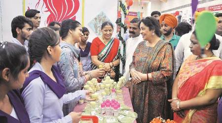 chandigarh exhibition, kirron kher, chandigarh vocational course, chandigarh news, indian express news