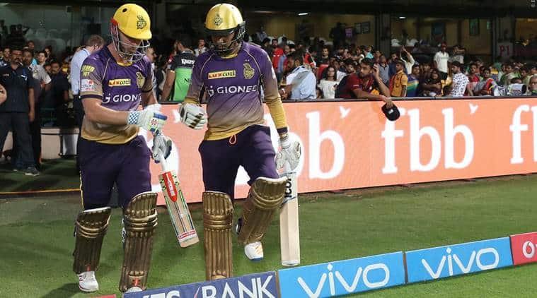 IPL 2017, IPL 2017 news, IPL 2017 updates, KKR, Sunil Narine, Narine fifty, Chris Lynn, Lynn batting, RCB vs KKR, sports news, sports, cricket news, Cricket, Indian Express