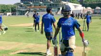 Kohli, Dhoni sweat it out in India's first net session