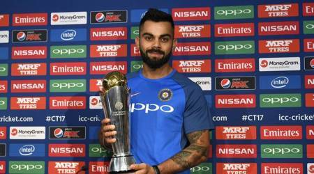 virat kohli, kohli, icc champions trophy, champions trophy, icc champions trophy 2017, india cricket, cricket india, indian cricket team, cricket news, cricket, indian express