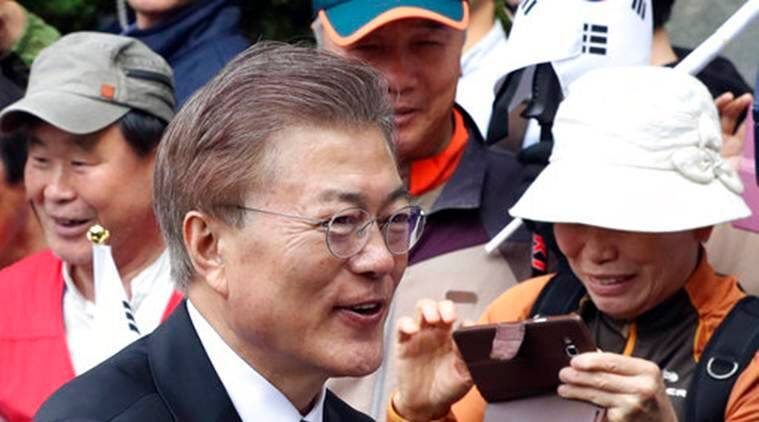 South Korea, South Korea's President Moon Jae, South Korea President Moon Jae, South Korea's newly elected president Moon Jae, South Korea president Moon Jae, President South Korea Moon Jae, World News, Latest World News, Indian Express, Indian Express News