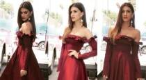 Raabta promotions: Kriti Sanon looks absolutely smashing in this red off-shoulder number
