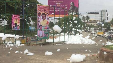 Bengaluru's Varthur lake spews toxic foam, envelopes nearby areas