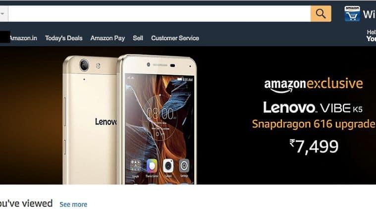 Lenovo Vibe K5, Vibe K5, Lenovo Vibe K5 India, Vibe K5 Price, Lenovo Vibe K5 Price, Qualcomm Snapdragon 616, Lenovo, Amazon, Amazon India, Lenovo Mobiles, Lenovo Smartphones, Technology, Technology News, Mobile News