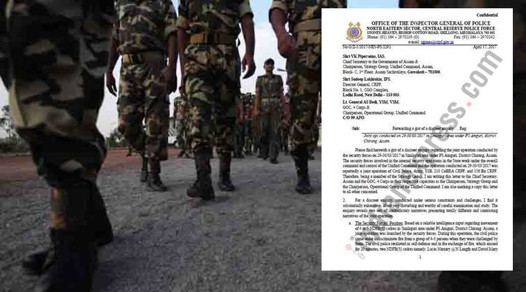 Assam, Assam fake encounter, Assam police, Assam army, Rajnish rai, Assam encounter, Chirang, assam news, india news, indian express news