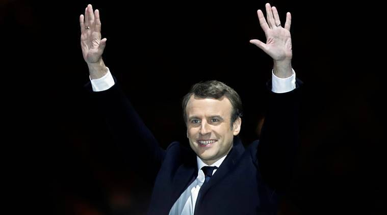 emmanuel macron, french presidential election, rabbi on macron victory, vladimir putin, theresa may, british pm on france election, angela merkel, shinzo abe, xi jinping, hillary clinton, world news, indian express