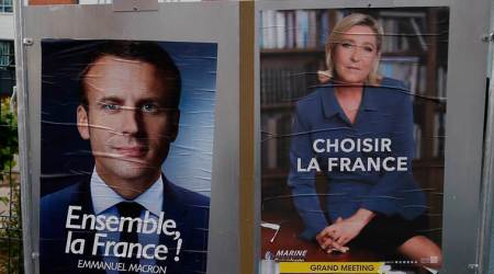 french presidential elections, emmanuel macron, macron le pen, french elections 2017, france elections, macron, france election candidates, france elections opinion polls, french elections opinion polls, marine le pen, france news, indian express news