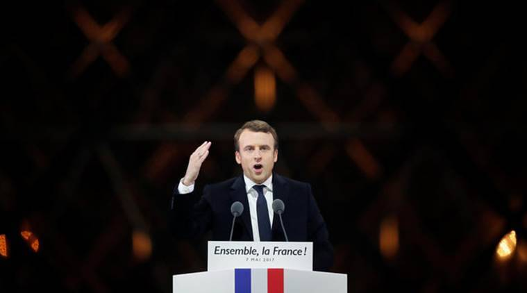 emmanuel macron, france president macron, french president macron, president elect macron, marine le pen, french presidential elections, macron wins, en marche, french reforms, french revolution, indian express