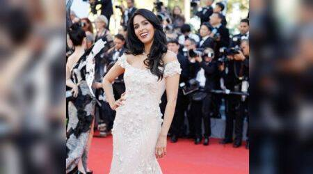 Cannes 2017: Mallika Sherawat looks pretty in a Georges Hobeika mermaid gown
