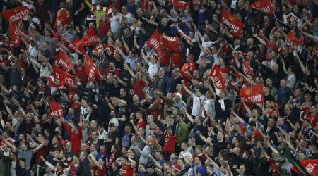 Manchester United, Manchester United fans, Manchester United celebrations, Manchester United fans celebrations, Manchester attack, Europa League, sports news, sports, football news, Football, Indian Express