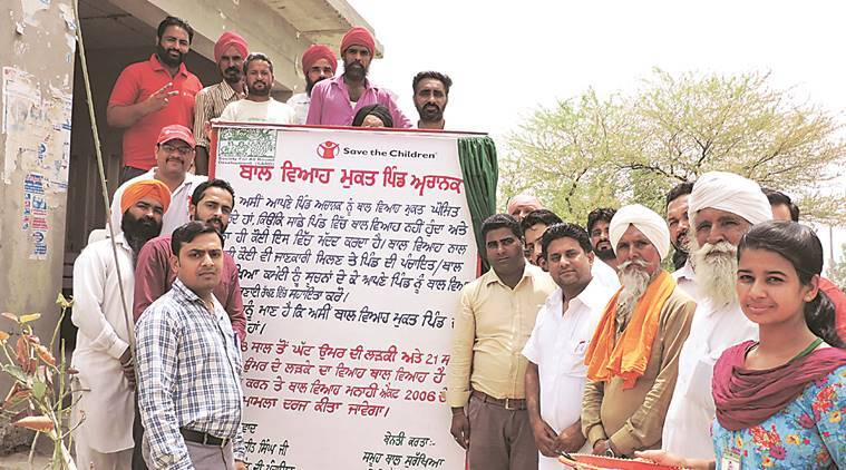 Mansa village, Achanak, Child-marriage free, Achanak village child marriage, punjab news, india news, indian express news